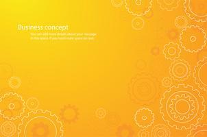 abstrakter orange Zahnradhintergrund vektor