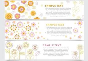 Abstrakter Blumenfahnen-Vektor-Satz