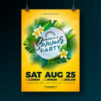 Summer Beach Party Flyer Design vektor