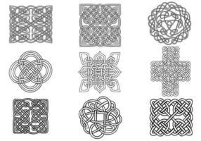 Keltischer Knoten-Vektor-Satz vektor