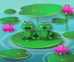 Frosch im Teich. vektor