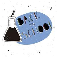 Zurück zu Schulhintergrund vektor