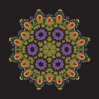 Vektorblumenmandala-Illustrationsdesign