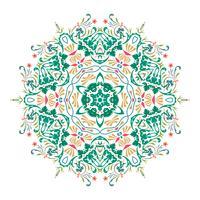 Vektor blommig Mandala illustration design