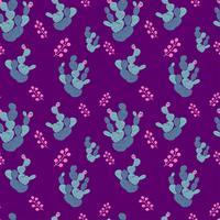 Handgjorda dekorativa sömlösa mönster med kaktus. i skandinavisk stil. Trendig tropisk design för textil