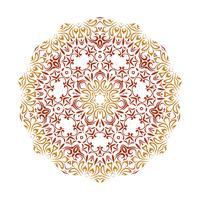 Vektorblumenmandala-Illustrationsdesign vektor
