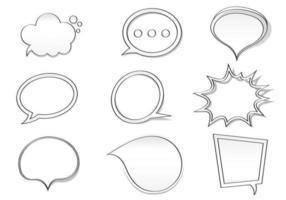 Hand gezeichneter Spracheblasen-Vektor-Satz