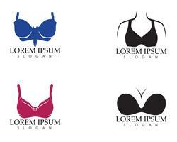 Set med olika push up bras isolerade över