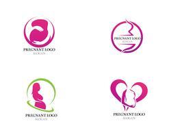 Schwangere Logoschablonenvektor-Ikonenillustration vektor