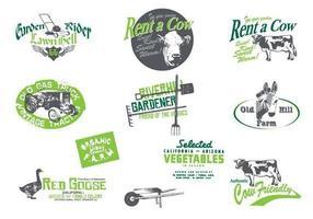 Grungy Farm und Garten Vector Pack