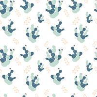 Hand gezeichnetes dekoratives nahtloses Muster mit Kakteen. im skandinavischen Stil. Trendy tropisches Design für Textilien