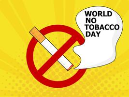 Welt kein Tabaktag vektor