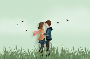 Liebe und Valentinstag vektor