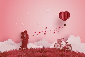 Illustration av Kärlek och Alla hjärtans dag
