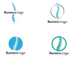 Spine diagnos symbol logotyp mall vektor illustration design