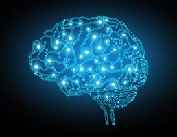 Kreativ hjärna koncept bakgrund vektor