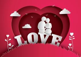 Illustration der Liebe und des Valentinstags vektor