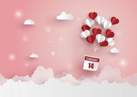 Illustration av Kärlek och Alla hjärtans dag vektor