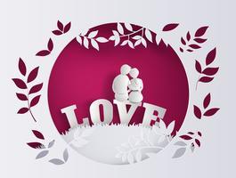 Illustration av kärlek och valentins dag