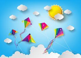 Drachen am Himmel vektor