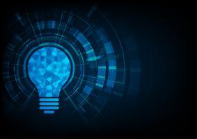 Teknik koncept. Glödlampa polygonal form av en artificiell intelligens. vektor