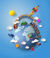 Vektorabbildung des Reisetransports