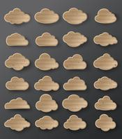 Vektorillustration der Wolkensammlung vektor