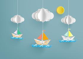 pappers segelbåt