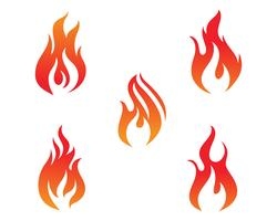 Feuerflammenvektor-Illustrationsdesign vektor