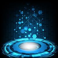 Vektordigitaltechnikkonzept, abstrakter Hintergrund.