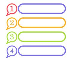 Talbubbla ikon Logotyper vektor illustrationer