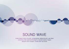 Abstrakt digital equalizer, Creative design ljudvågmönsterelement.