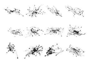 splatter bläck droppe vektor pack