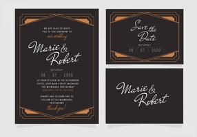 Vektor elegante Hochzeit Einladungsvorlage