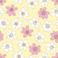 Nahtloser Hintergrund der bunten Blumen. vektor