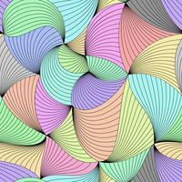 Stilvoller bunter Vektor kräuselte nahtloses Muster.