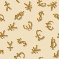 Världens främsta valuta. vektor