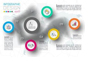 Geschäftsschrittoptionen und abstrakte Infografiken Nummer Optionen Vorlage.