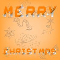 Frohe Weihnachten und glückliches neues Jahr auf Grafikkunst des ENV-Vektors.