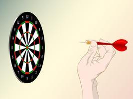 Dartboard spel spelar vektor