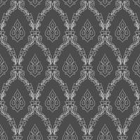 Kunst-Hintergrunddekoration des nahtlosen gezeichneten Musters thailändische. vektor