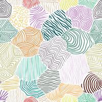 Dekorativ mönster ritning sömlös bakgrund.