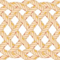 Nahtloses Muster mit dem Seilverbiegen. vektor