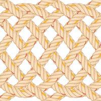 Sömlöst mönster med repböjning. vektor