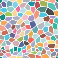 Bunter nahtloser Hintergrund auf Mosaikart. vektor