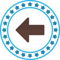 Vektor Linkspfeil-Symbol
