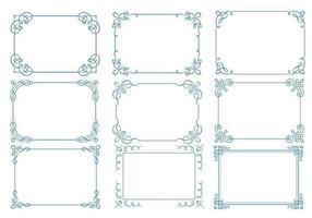 Kalligraphischer Rahmen Vector Pack