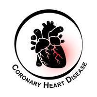 Koronar hjärtsjukdomssymbol vektor