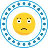 Vektor Sad Emoji Ikon