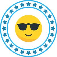 Vektor Cool Emoji Ikon